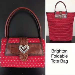 Brighton | Foldable Canvas & Leather Tote Bag K07